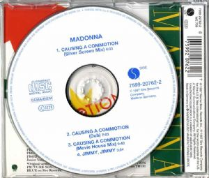 CAUSING A COMMOTION - UK / GERMANY CD SINGLE (WHITE LABEL)